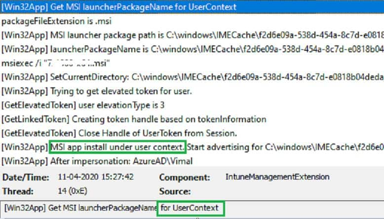 IntuneManagementExtension.log - use ServiceUI with Intune - Bring SYSTEM Process to Interactive Mode
