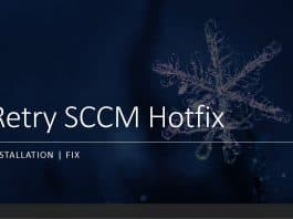 Retry ConfigMgr Hotfix Installation