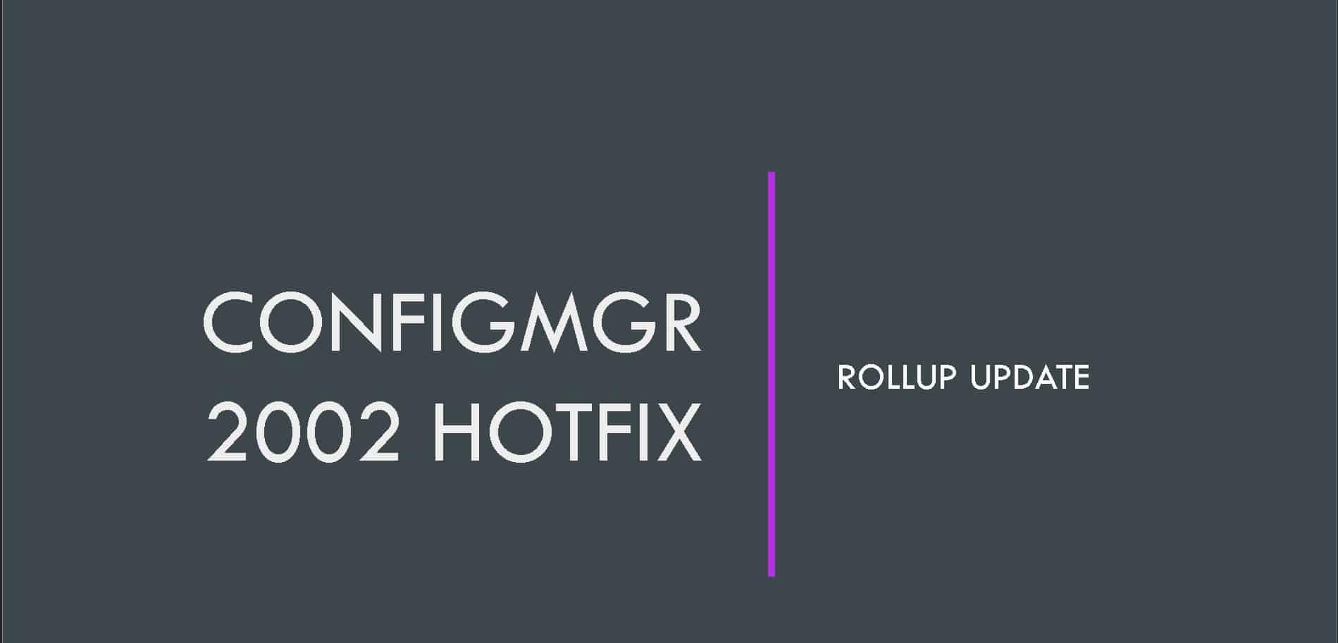 SCCM 2002 HotFix 4563473