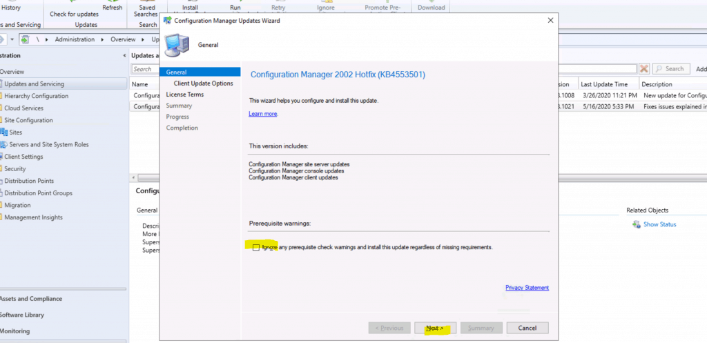 ConfigMgr 2002 Hotfix KB4553501 - SCCM 2002 Hotfix KB4553501