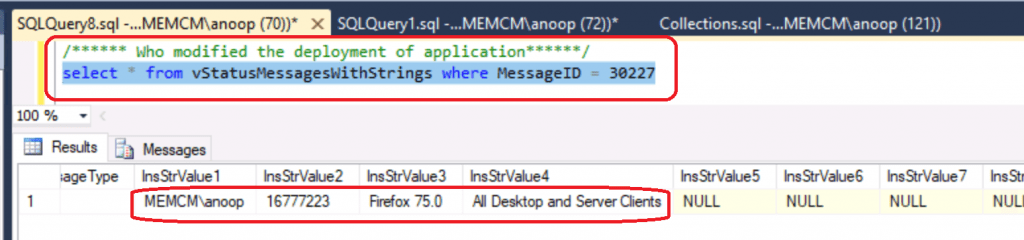 Who Modified App Deployment from ConfigMgr