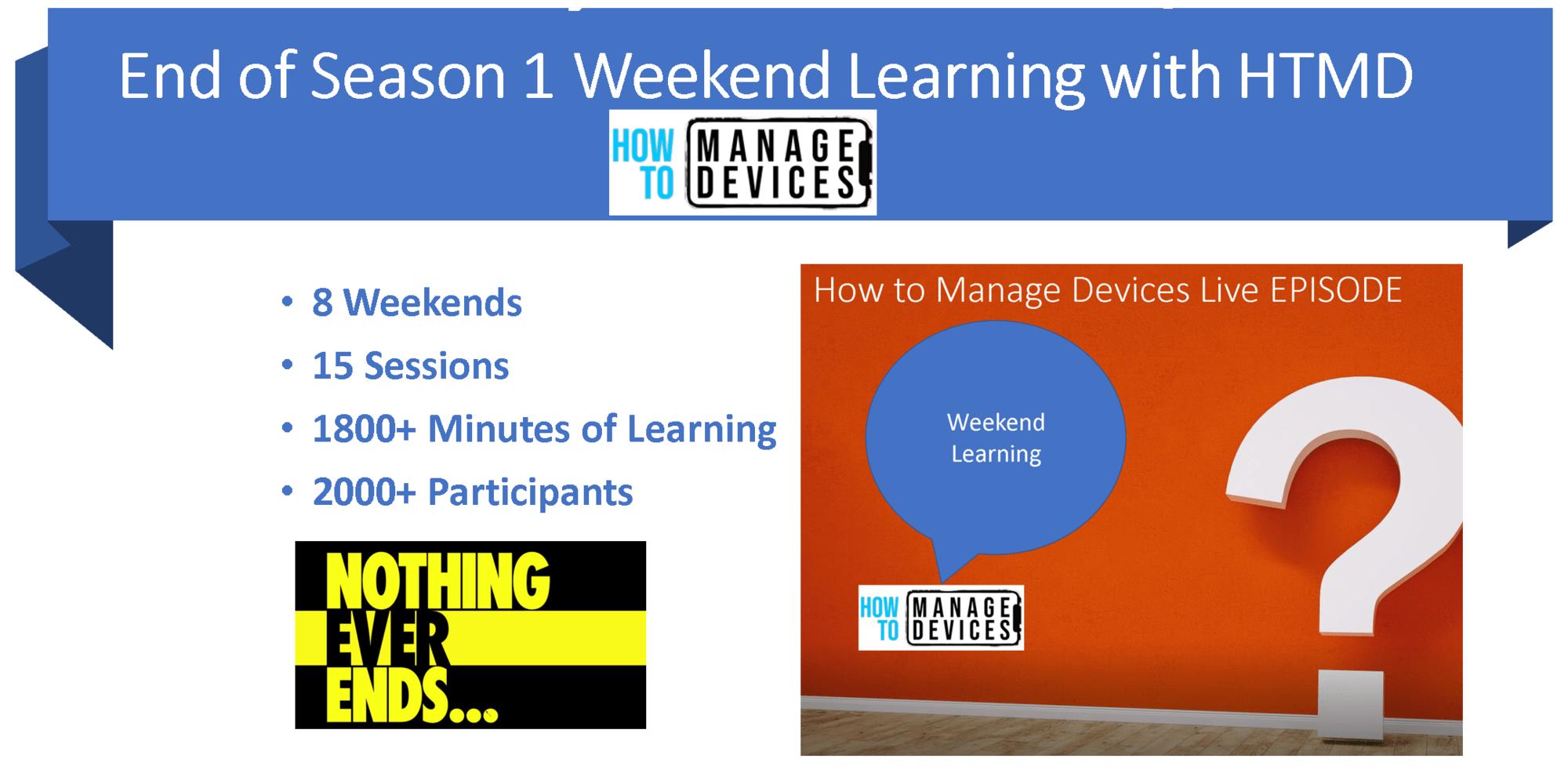 8 Weekends of ConfigMgr Intune Learning Season