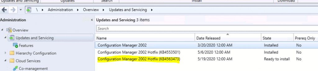 ConfigMgr 2002 Rollup Update HotFix 4563473 | FIX Tenant Attach Issues 1