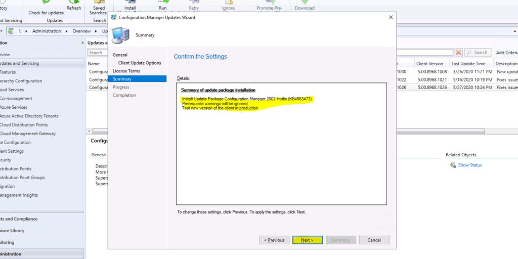 ConfigMgr 2002 Rollup Update HotFix KB 4563473 - SCCM