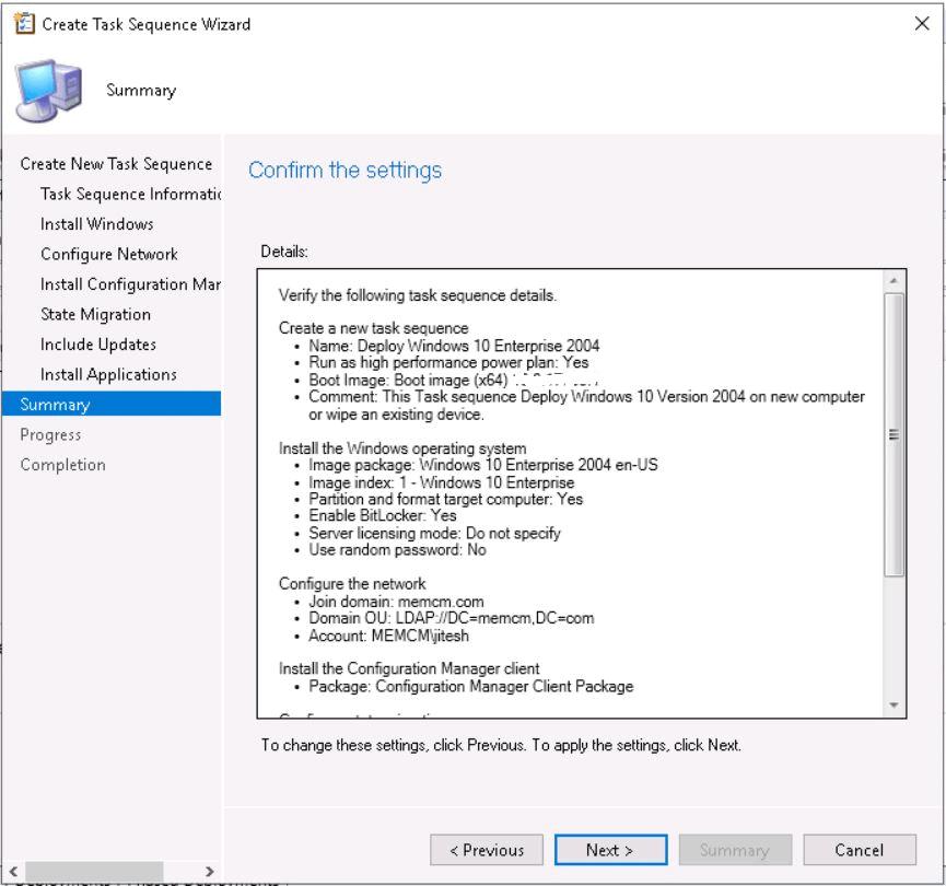 Deploy Windows 10 2004 Using SCCM | ConfigMgr | MEMCM 19