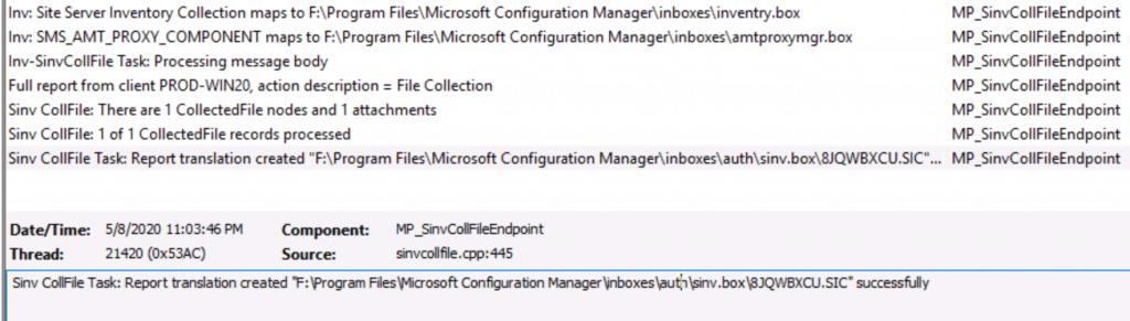 Collect SCCM Client Logs - Configuration Manager Client Diagnostics