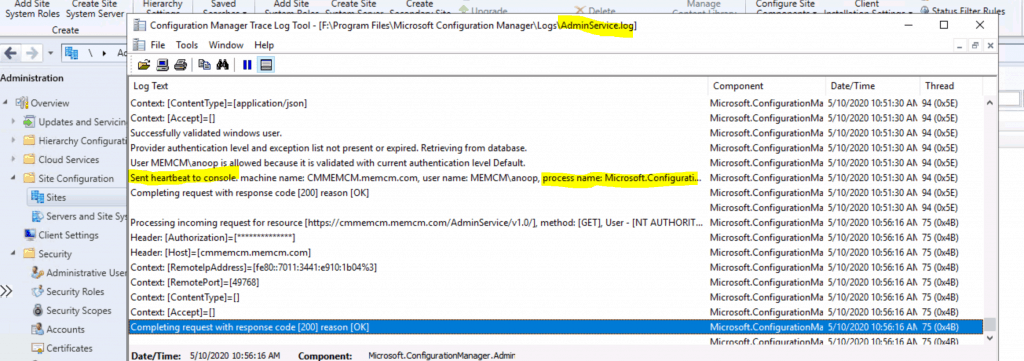 LOGS - Admins Recently Connected ConfigMgr Console - view recently connected consoles - Console Connections