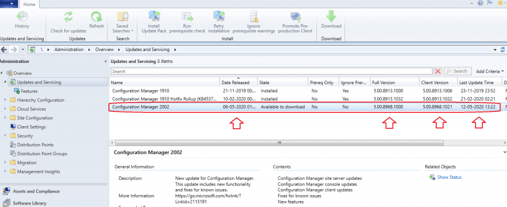 SCCM 2002 Feature Update is GA'ed ConfigMgr 2002 Production Version is Generally Available | SCCM