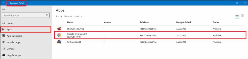 Intune Application Management - Patch Connect Plus
