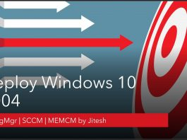 Deploy Windows 10 2004 Using SCCM ConfigMgr