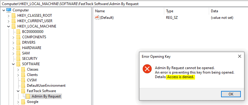 AdminByRequest - User cannot gain elevated privilege for making tamper to user accounts manually on the workstation or tamper with the ABR client itself.
