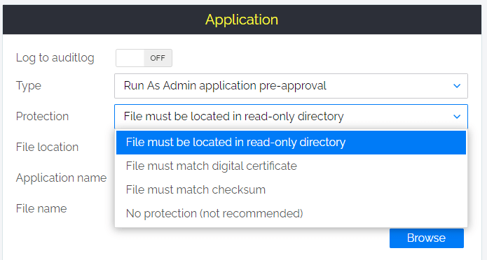 AdminByRequest - Pre approve known mostly used applications to reduce audit events. Similar to AppLocker in Windows.