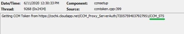 CCM_STS ccmsetup.log - ConfigMgr Client Deployment Using Intune | Workflow | SCCM