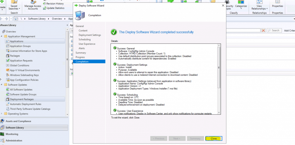 ConfigMgr Admin Console Silent Install Application Using SCCM 2