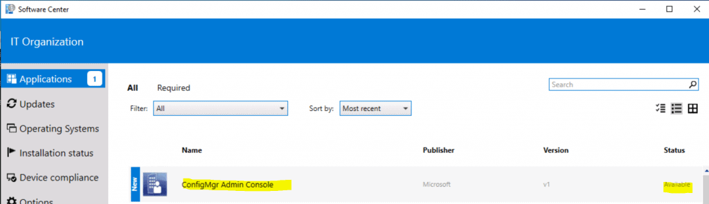 Silent Install ConfigMgr Admin Console