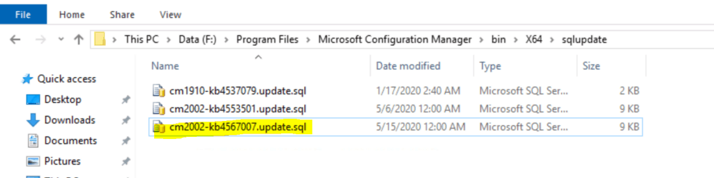 KB4567007 just updates SQL database to fix
