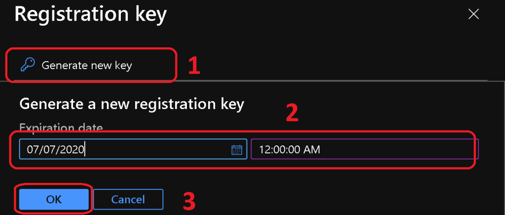 Generate new registration key - WVD Add New Session Hosts to Existing Host Pool WVD V2 New Admin Experience
