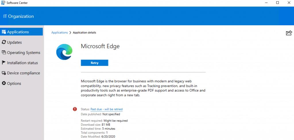 ConfigMgr Edge Chromium Unmatched Exit Code (1) Execution Failed | SCCM 4
