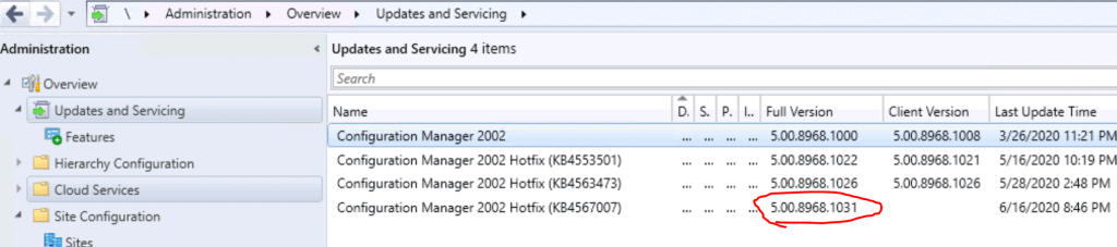 SCCM 2002 Site Version Confusion HotFix KB4567007 Update | ConfigMgr