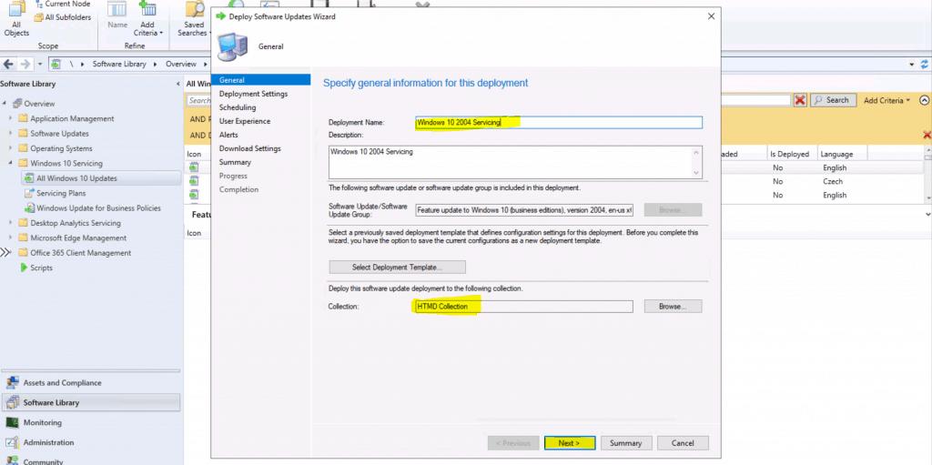 Windows 10 2004 Servicing Deployment using ConfigMgr SCCM
