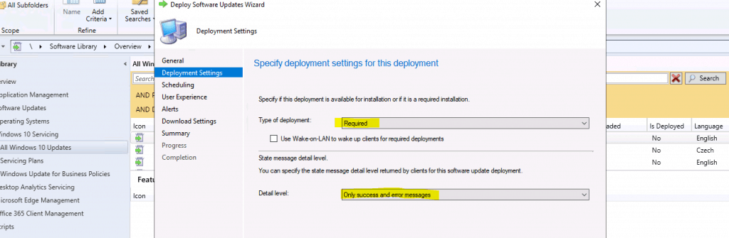Select Type of Deployment - Required
