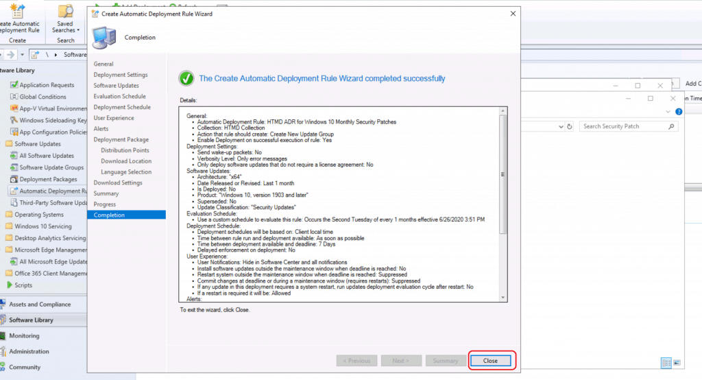 Create ConfigMgr Automatic Deployment Rule | ADR | SCCM
