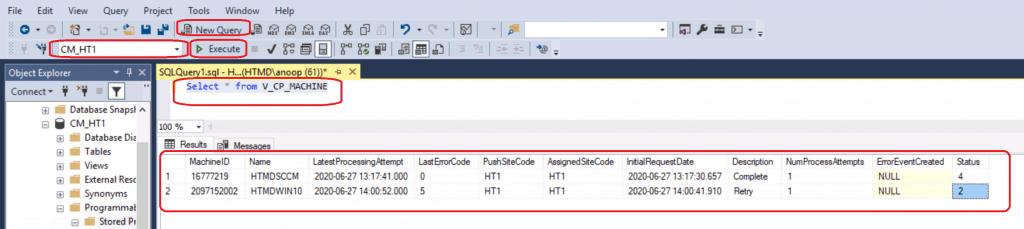SCCM Client Push Installation Status Using SQL Query ConfigMgr