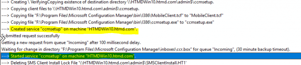 Install ConfigMgr Client Using Client Push Installation Method SCCM