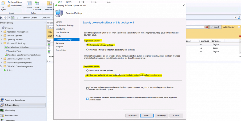 Do not install software updates for Windows 10 Servicing