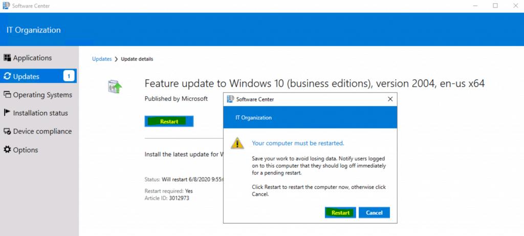 Upgrade to Windows 10 2004 Using SCCM | ConfigMgr | Servicing 3