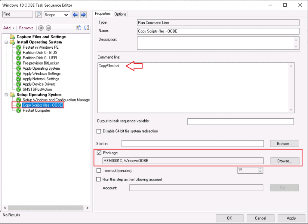 SCCM Customize Windows Out of Box Experience OOBE Using ConfigMgr 19