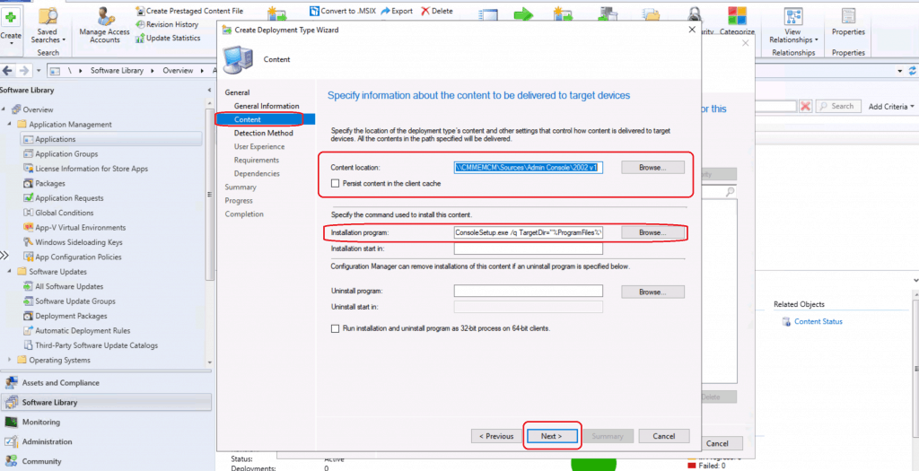 Create ConfigMgr Admin Console Application Using SCCM - ConfigMgr Admin Console Silent Install