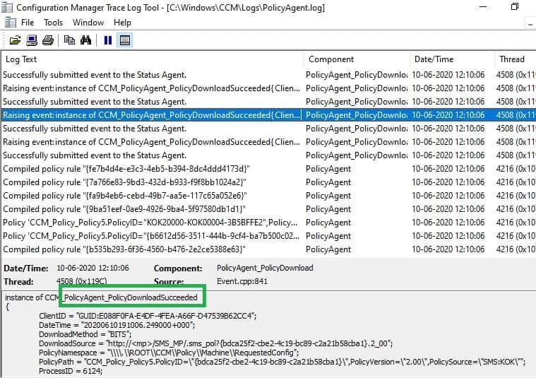 Policyagent.log CMG cloud management gateway - ConfigMgr Client Deployment Using Intune | Workflow | SCCM