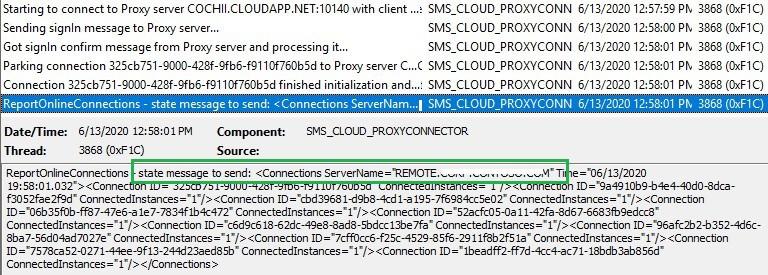 SMS_CLOUD_PROXYCONNECTOR.log - ConfigMgr Client Deployment Using Intune | Workflow | SCCM