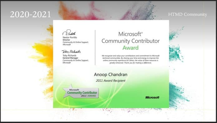 2020-2021 Microsoft MVP Award for Intune ConfigMgr Contributions