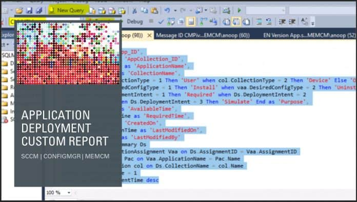 SCCM Application Deployment Custom Report SQL Query ConfigMgr