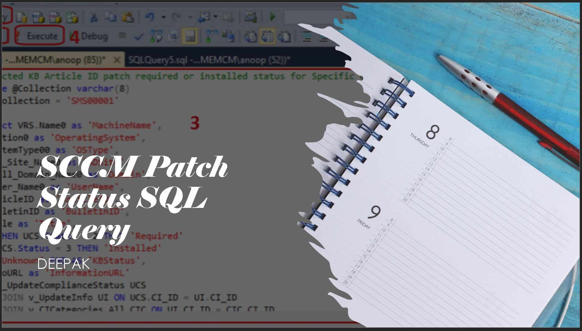 SCCM Patch Status SQL Query Based on Particular Collection