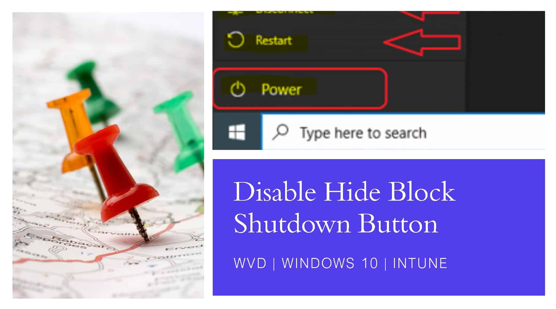 WVD Disable Shutdown Button for Windows 10 using Intune