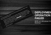 WVD v2 Deployment Operation Failed