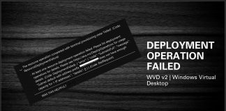 WVD v2 Deployment Operation Failed