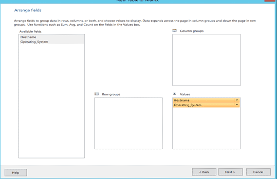 Arrange Fields - Choose Data Source - SCCM Create Custom Report Using Report Builder | ConfigMgr | Part 1