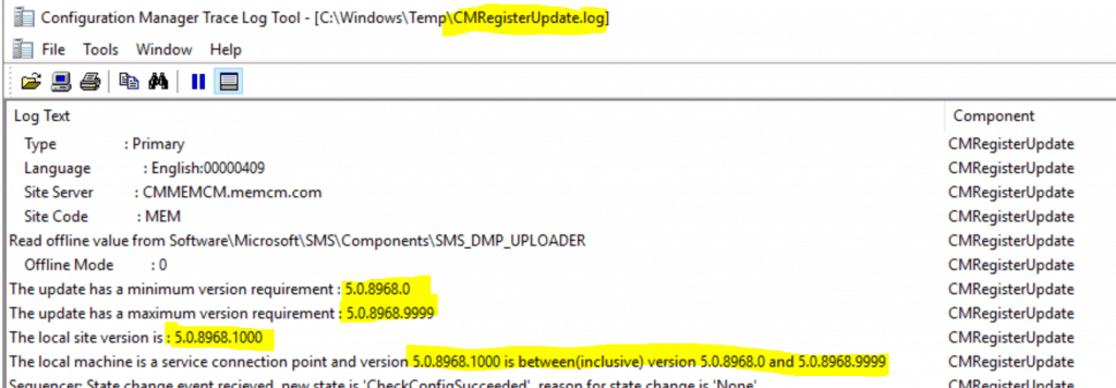 SCCM Troubleshooting Out of Band Hotfix Logs | ConfigMgr