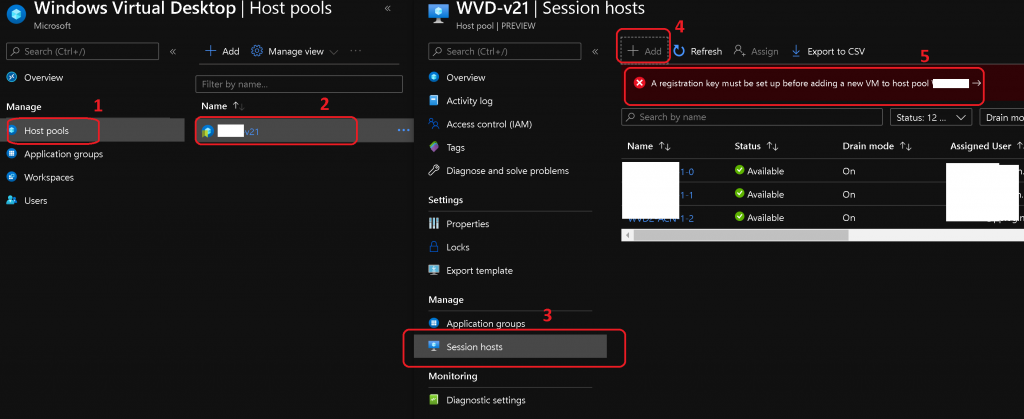WVD v2 Deployment Operation Failed | Add New VMs to Existing Host Pool 1