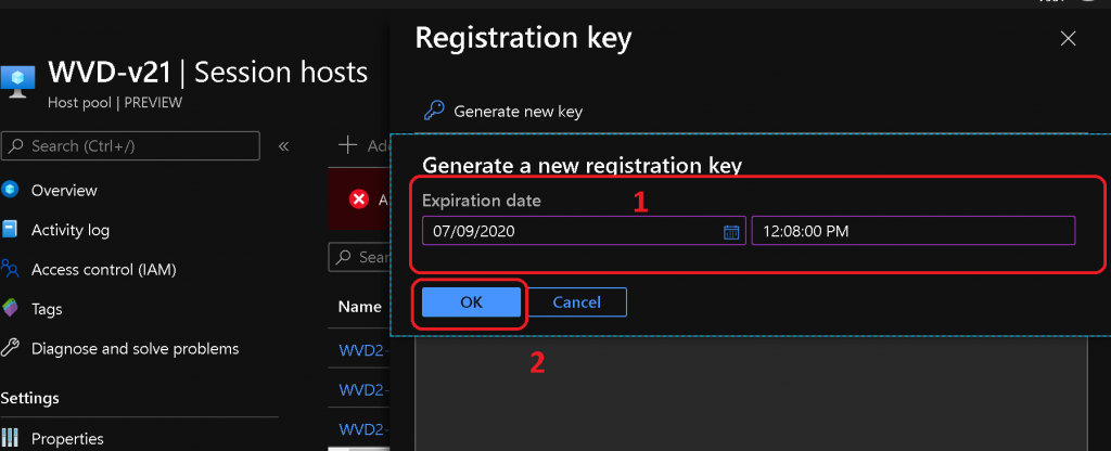 WVD v2 Deployment Operation Failed | Add New VMs to Existing Host Pool 2