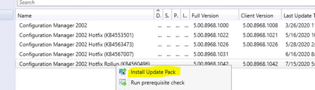 SCCM 2002 Hotfix Rollup KB4560496 | ConfigMgr 2002 Rollup Update