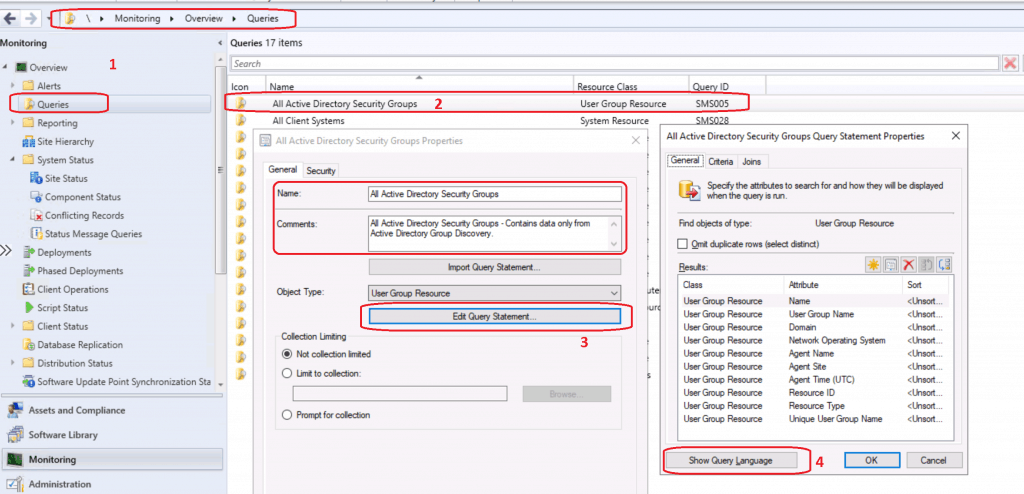 SCCM Query All Active Directory Security Groups Dynamic Collection