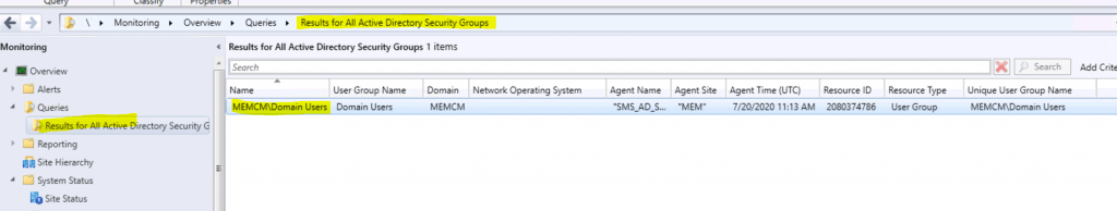 SCCM Query All Active Directory Security Groups Dynamic Collection 1