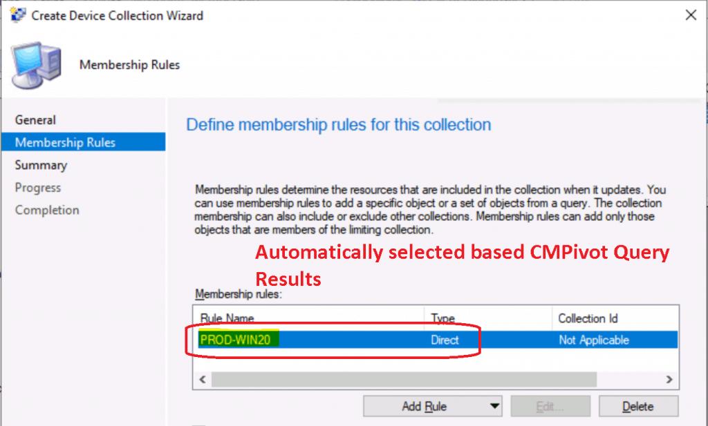SCCM CMPivot collection