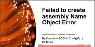 Fix SCCM Failed to create assembly Name Object Error