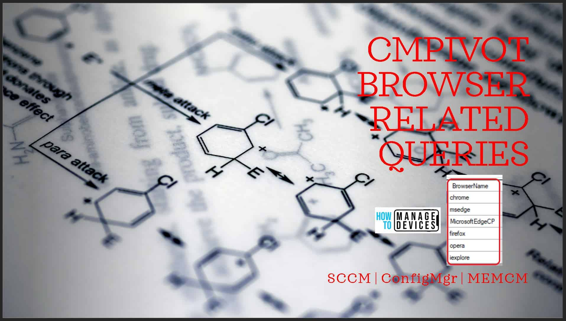 SCCM CMPivot Browser Related Queries Default List of Browsers - ConfigMgr